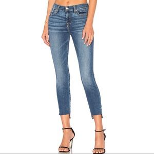7 for all mankind high waist ankle jeans 25 skinny